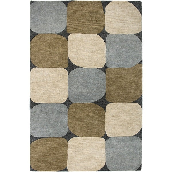 Rizzy Home Blue Colours Hand-Tufted New Zealand Wool Accent Rug (5' x 8')