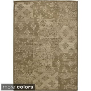 Rizzy Home Gold/ Brown Galleria Collection Power-Loomed Traditional Accent Rug (9'2 x 12'6)