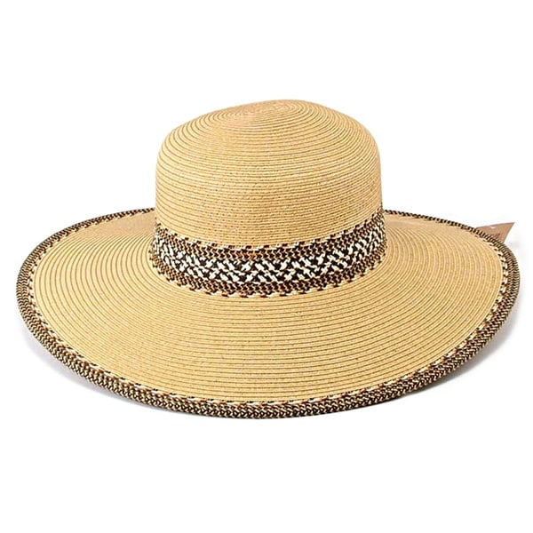 KC Signatures Women's Evelyn Floppy Hat with Aztec Pattern and SPF 50+