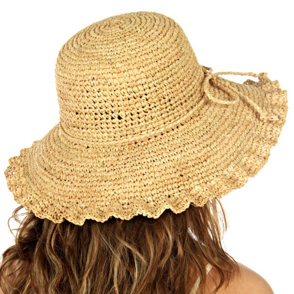 KC Signatures Women's Lily Panama Textured Brim Hat