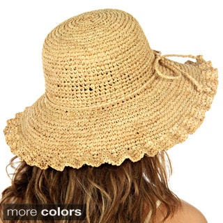 KC Signatures Women's Lily Panama Textured Brim Hat