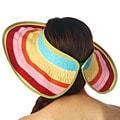 KC Signatures Women's Leah Rolled Visor Rainbow Hat