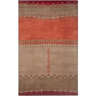 Rizzy Home Beige Mojave Collection Hand-Tufted Wool Rug (3'6 x 5'6)