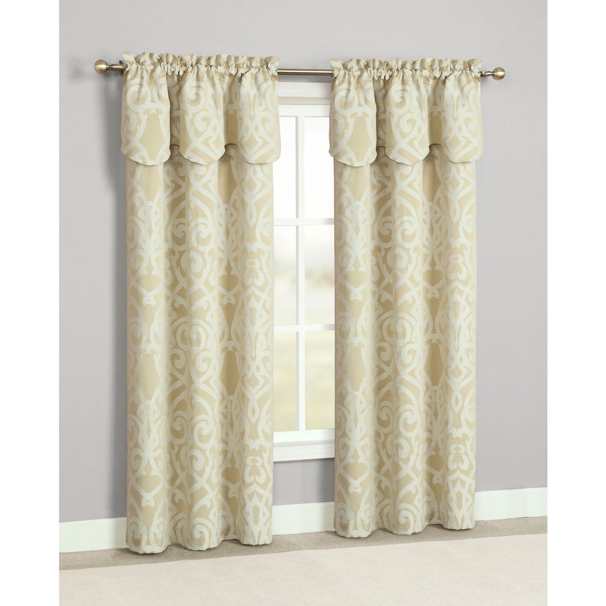 Overstock.com Pennington Rod Pocket Curtain Panels