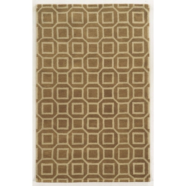 Rizzy Home Black/ Beige/ Brown Julian Pointe Collection 100-percent Wool Hand-Hand-Tufted Accent Rug (8' x 10')