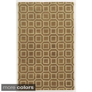 Rizzy Home Black/ Beige/ Brown Julian Pointe Collection 100-percent Wool Hand-Hand-Tufted Accent Rug (9' x 12')