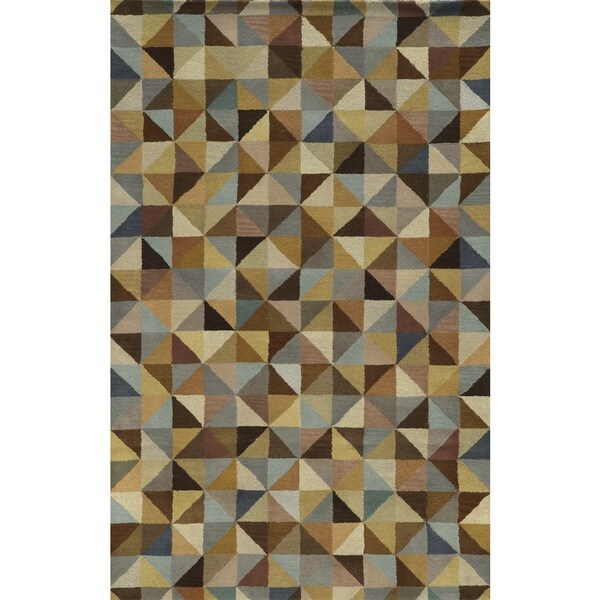 Rizzy Home Multi Pierre Collection 100-percent Wool Hand-Tufted Accent Rug (5' x 8') 15505487