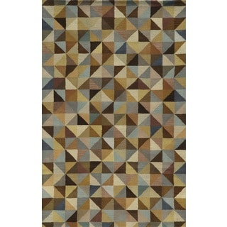 Rizzy Home Multi Pierre Collection 100-percent Wool Hand-Hand-Tufted Accent Rug (9' x 12')