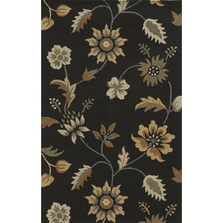 Rizzy Home Brown Rockport Collection 100-percent Wool Hand-Tufted Accent Rug (8' x 10')