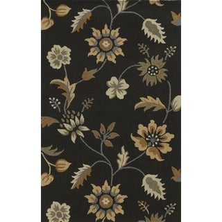 Rizzy Home Brown Rockport Collection 100-percent Wool Hand-Tufted Accent Rug (9' x 12')