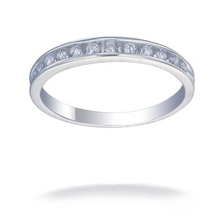14K White Gold 1/4 CT TDW Round Diamond Wedding Band (G-H, I1-I2)