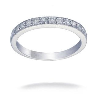 14K White Gold 1/4 CT TDW Round Diamond Wedding Band (G-H, I1-I2)
