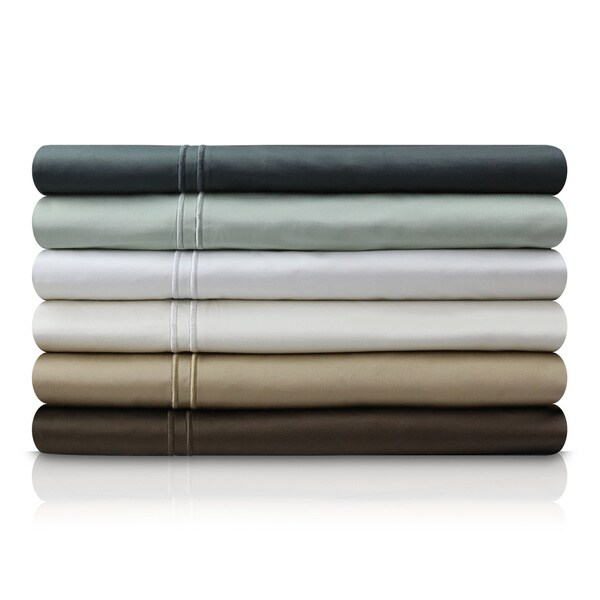 MALOUF 600 Thread Count Genuine Egyptian Cotton Single Ply Deep Pocket Bed Sheet Set