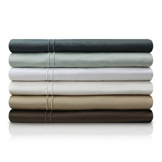 MALOUF 600 Thread Count Genuine Egyptian Cotton Single Ply Bed Sheet Set