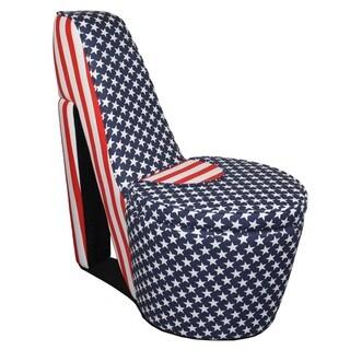 American Flag High Heels Storage Chair