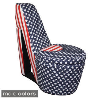 American Flag High Heels Storage Chair