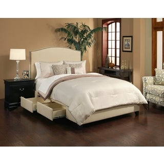 Newport Wheat/Beige 4 Drawer Upholstered Bed