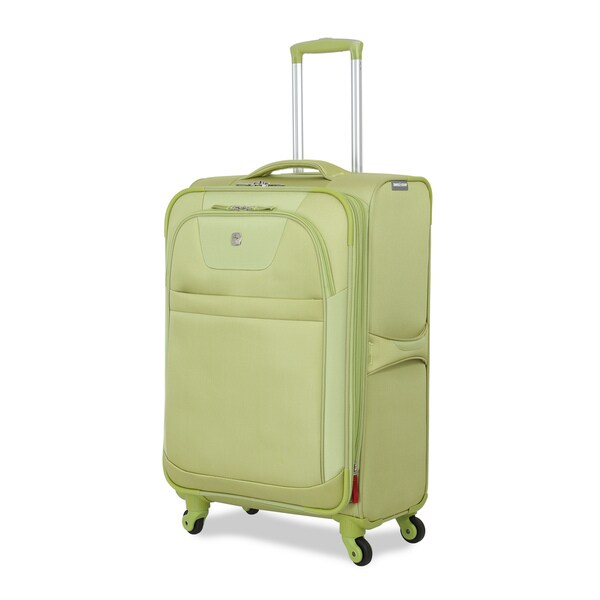 SwissGear Never So Lite Lime 24.5-inch Expandable Spinner Upright Suitcase