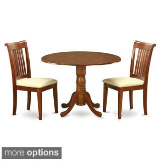 Brown Breakfast Nook Plus 2 Dinette Chairs 3-piece Dining Set