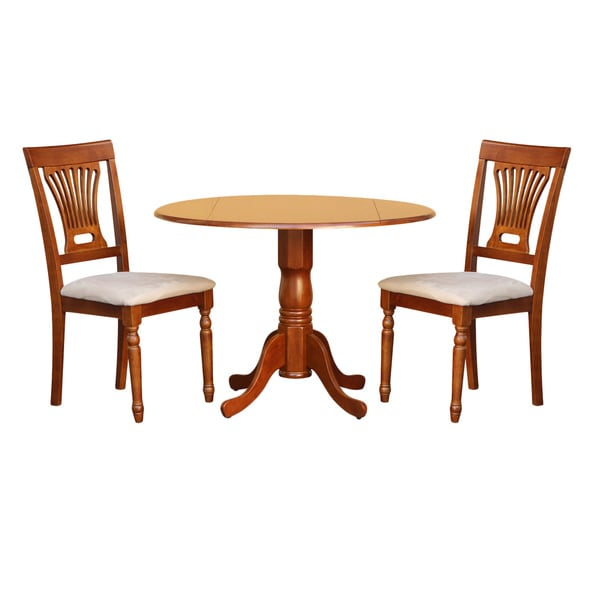 saddle brown small kitchen table and 2 chairs 3 piece