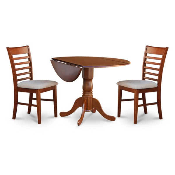 saddle brown small kitchen table and 2 chairs dining set 17325111