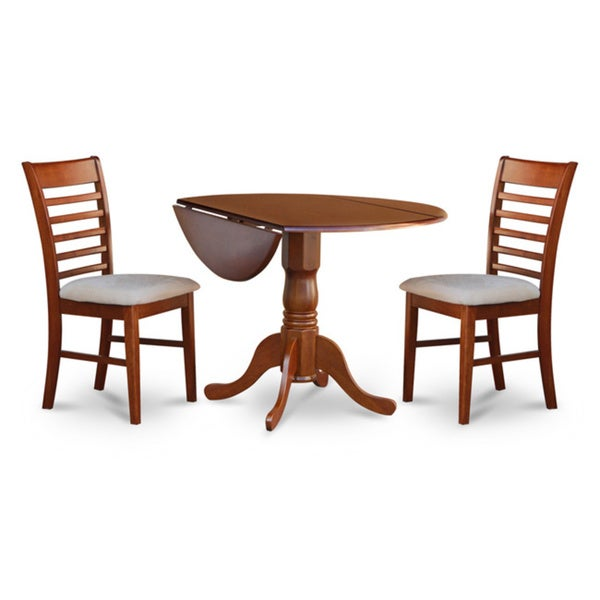Saddle brown small kitchen table and 2 chairs dining set 17325111 shopping - Small space kitchen table sets property ...