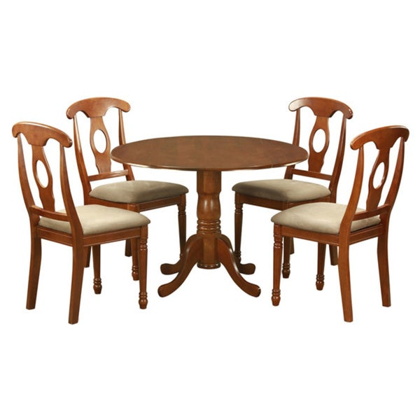 28 5 piece small round kitchen table and 4 dining chairs 5