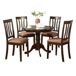 Cappuccino Kitchen Table and 4 Chairs 5-piece Dining Set