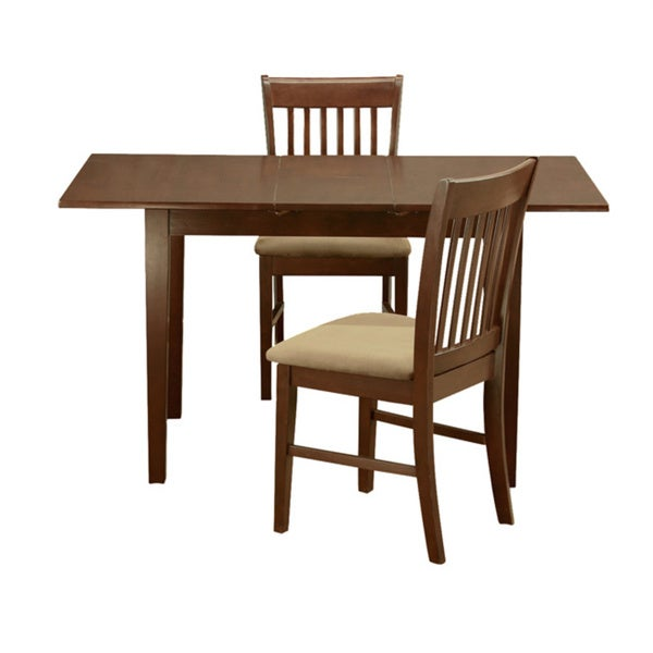 Mahogany 12 inch leaf and 2 dining room chairs 3 piece for Mahogany dining room chairs