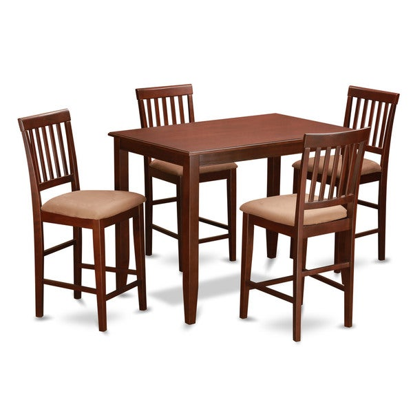 mahogany pub table and 4 kitchen chairs 5 piece dining set 17325133