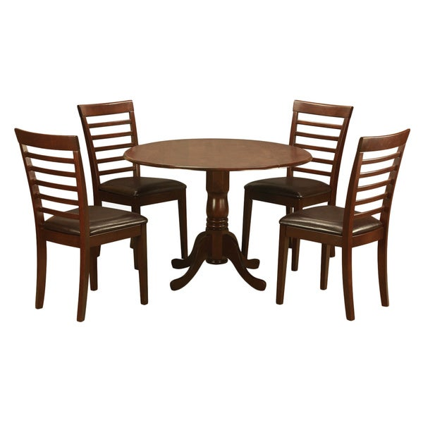 mahogany small kitchen table and 4 chairs 5 piece dining set
