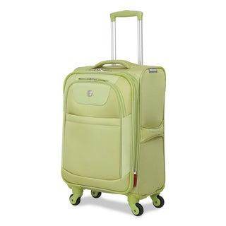 SwissGear Never So Lite Lime 20-inch Expandable Carry On Spinner Upright Suitcase
