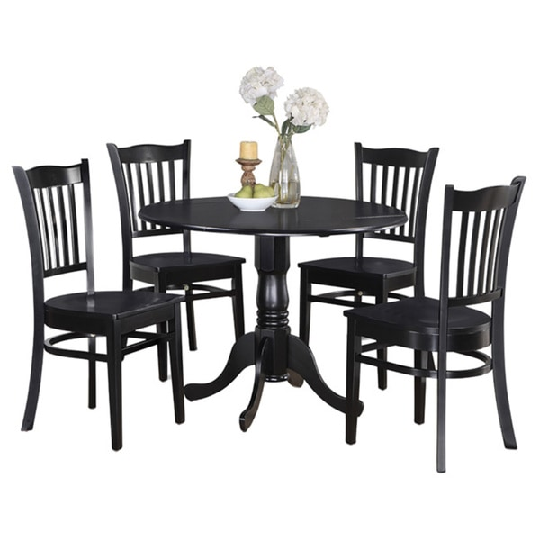 Table And 4 Kitchen Chairs 5 Piece Dining Set 17325205 Overstock
