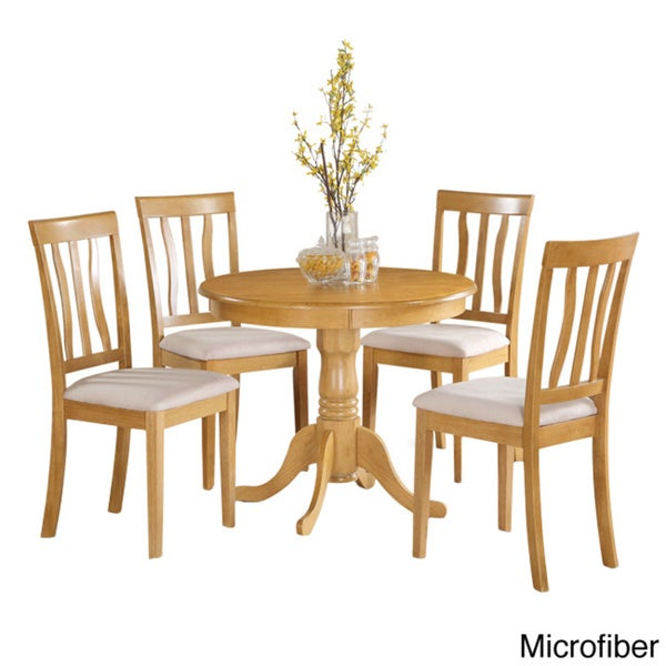 Oak Small Kitchen Table and 4 Chairs Dining Set