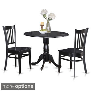 Round Kitchen Table and 2 Dinette Chairs 3-piece Dining Set