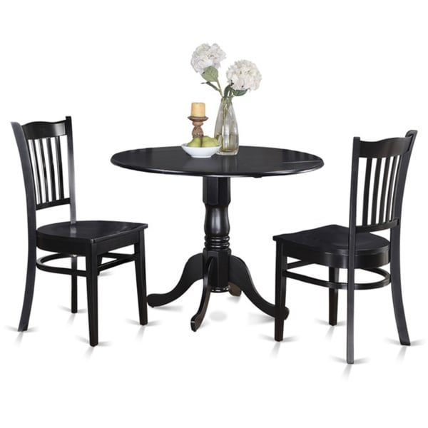 round kitchen table and 2 dinette chairs 3 piece dining set 17325204