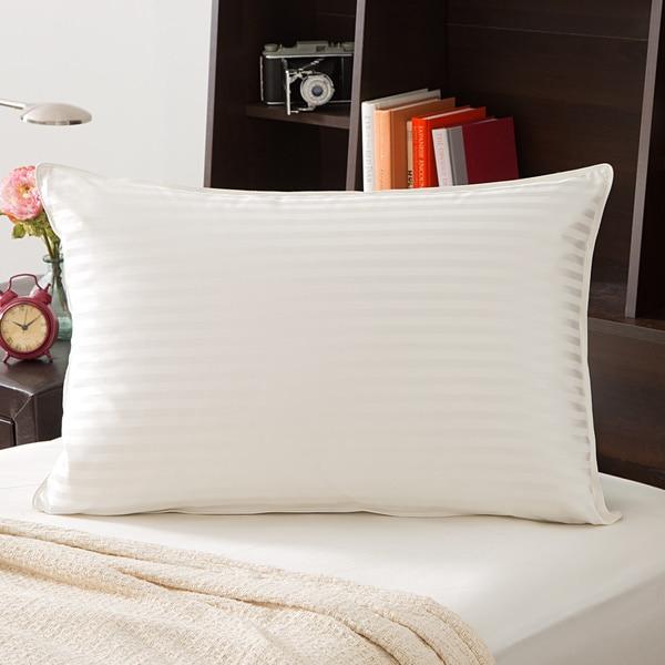 Grandeur Collection 750 Thread Count Silk Cotton White Goose Down Pillow