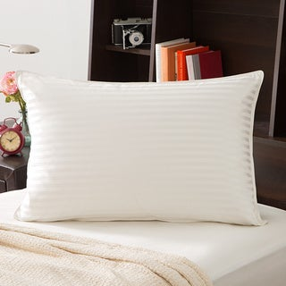 Grandeur Collection 750 Thread Count Silk Cotton White Goose Down Pillow