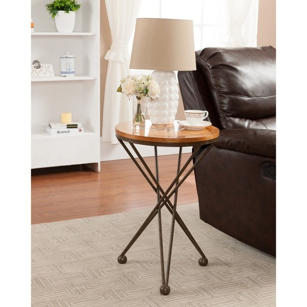 Treasure Trove Accents Karr Heights Naturaland Brown Round Accent Table