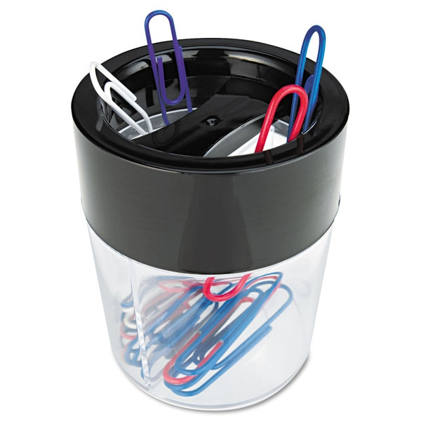 Universal Two Compartments Plastic Magnetic Clip Dispenser (Pack of 10)
