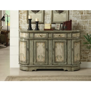 Treasure Trove Accents Carol Heights Light Green Two Drawer Four Door Credenza
