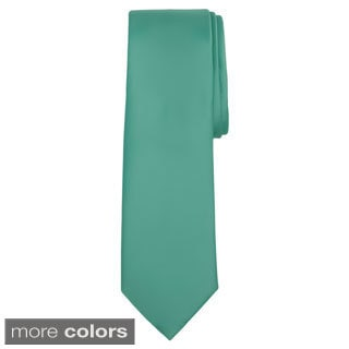 Jacob Alexander Men's XL Solid Color Tie