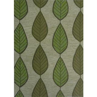 Green Leaf Outdoor Rug (5' x 7')
