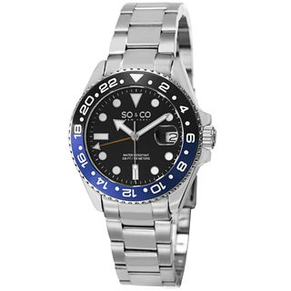 SO&CO New York Men's Yacht Club Quartz Stainless Steel Bracelet Watch