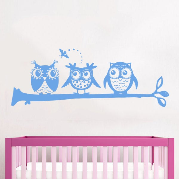 Kids Owls Nursery Vinyl Sticker Wall Art
