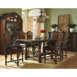 White Oak and Walnut Gathering Height Dining Table with Two 20-inch Leaves