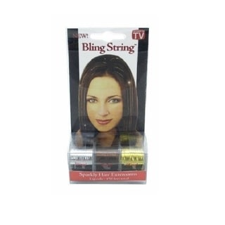 Bling String Sparkly Silver, Gold, Bronze Hair Extensions