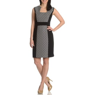 Tahari Arthur S. Levine Women's Inset Printed Dress