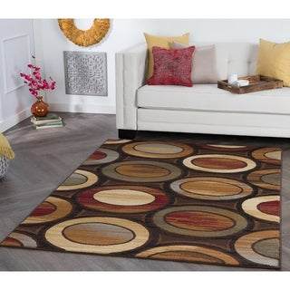 Alise Rhythm Multi-colored Geometric Area Rug (9'3 x 12'6)