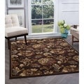 Alise Flora Ivory and Brown Floral Area Rug (7'10 x 10'3)